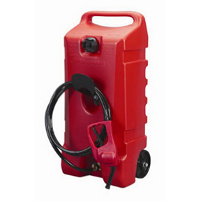 FLO N GO 14 GAL RED PORTABLE WHEELED GAS CONTAINER