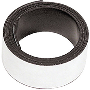 "1"" X 30"" FLEXIBLE MAGNETIC TAPE WITH ADHESIVE BACK"