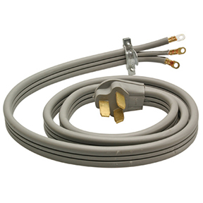 4' 6/2 & 8/1 GRAY FLAT RANGE CORD-50A/250V RIGHT ANGLE