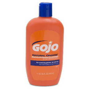 G0JO 14oz NAT.ORANGE SMOOTH HAND CLEANER W/NAIL BRUSH