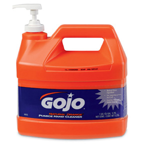 GAL GOJO HAND CLEANER W/PUMICE LOTION & PUMP DISPENSER