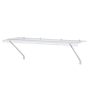 "CLOSETMAID 12"" X 2' WHITE SHELF KIT W/HARDWARE"