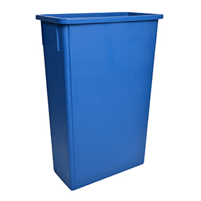 23 GAL BLUE RECTANGULAR WASTEBASKET