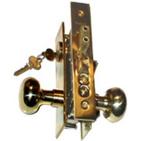 MAXTECH MORTISE LOCK 2-3/4 BS US3 W/KNOBS & 1-1/4 X 8 PLATE