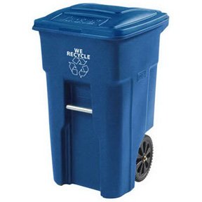 32 GAL BLUE ROLLOUT GARBAGE CAN