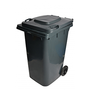 32 GAL GREY ROLLOUT GARBAGE CAN