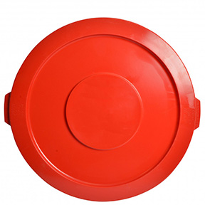 44 GAL RED GARBAGE CAN LID