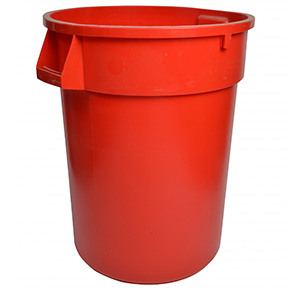 44 GAL RED GARBAGE CAN
