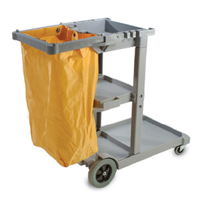 GRAY JANITOR CART W/BAG
