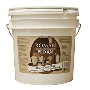 ROMAN 2 GAL PRO 838 H/D CLEAR WALLPAPER ADHESIVE