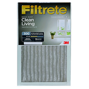 "3M FILTRETE 16"" X 25"" X 1"" PLEATED AIR FILTER"
