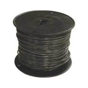 #12 SOLID (THHN) WIRE - BLACK ROLL-500'