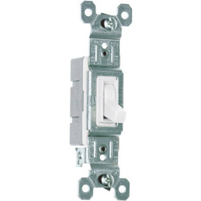 15A-120V SINGLE POLE SWITCH -WHITE