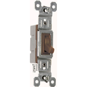15A-120V SINGLE POLE SWITCH BROWN