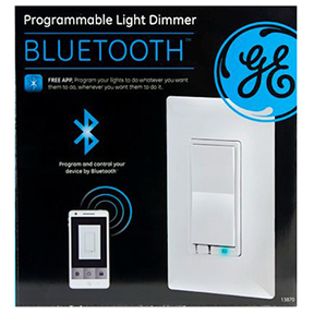 GE BLUETOOTH SMART IN-WALL SMART DIMMER WHITE/LIGHT