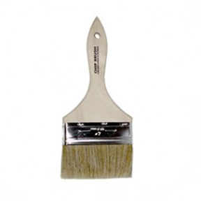 "4"" WHITE CHINA BRISTLE CHIP BRUSH"