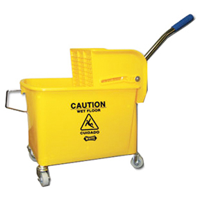 21 QT YELLOW COMPACT MOP BUCKET AND WRINGER