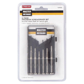 6pc MASTER MECHANIC PRECISION SCREWDRIVER SET