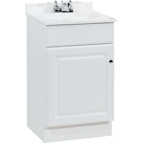 18 X 16 WHITE WOOD VANITY COMP