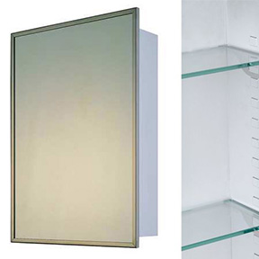 24X24 SURFACE MOUNTED MEDICINE CABINET WITH S/S