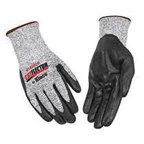 LARGE BLACK & WHITE CUT RESISTANT LEVEL 5 GLOVE