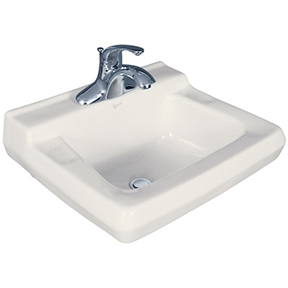 19 X 17 WALL HUNG BASIN W/BRACKET