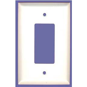 "1G, JUMBO WHITE METAL DECORA RECEPTACLE COVER 5.5""H X 3.5""W"