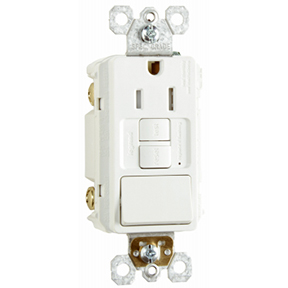 15A 125V TAMPER RESISTANT COMB SWITCH & RECEPTACLE-WHITE