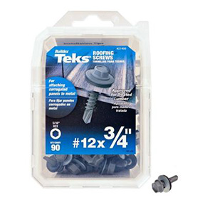 90PK #12 X 3/4 ROOFING SCREW TEK HEAD
