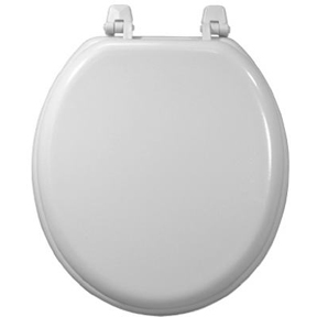 DELUXE WHITE WOOD TOILET SEAT