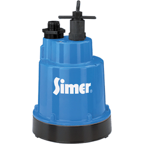 SIMER 1/4HP SUBMERSIBLE SUMP PUMP