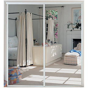 47 X 80-1/2 WHITE STEEL MIRROR DOOR