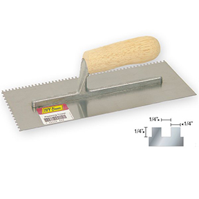"11 X 4-1/2 1/4"" SQUARE NOTCHED TROWEL"
