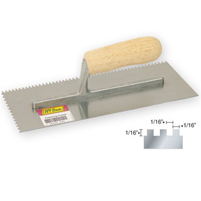 1/16 SQUARE NOTCHED TROWEL
