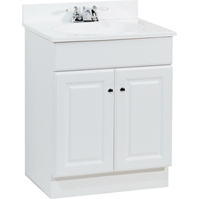 24X18 WHITE WOOD VANITY & TOP