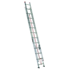 24' ALUMINUM EXTENTION LADDER TYPE III-200lb DUTY RATING