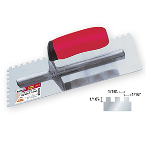 1/16 X 1/16 X 1/16 SQUARE NOTCHED TROWEL