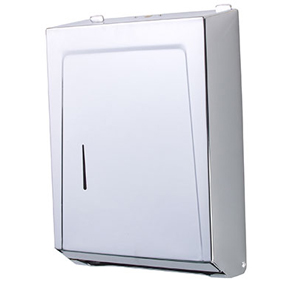 CHROME C-FOLD/MULTI FOLD PAPER TOWEL DISPENSER