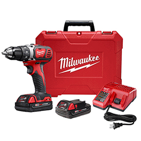 "MILWAUKEE M18 1/2"" DRILL DRIVER KIT W/EXTRA 18V"