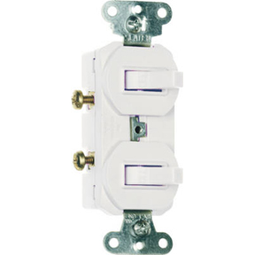 DUPLEX TOGGLE SWITCH WHITE