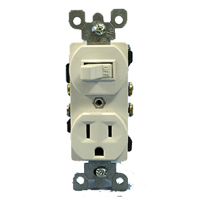 SINGLE POLE SWITCH & GROUNDED OUTLET