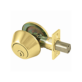 HD SINGLE CYL DEADLOCK-BRASS
