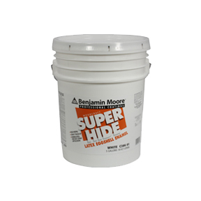 5 GAL S/H LATEX EGGSHELL WHITE PAINT