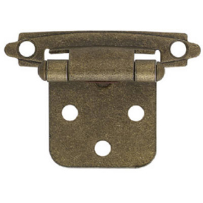 ANT BRASS SELF-CLOSE CABINET HINGE-FLUSH MOUNT
