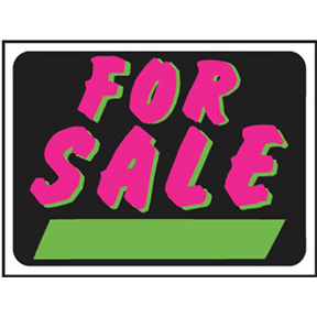 9 X 12 PLASTIC FOR SALE SIGN