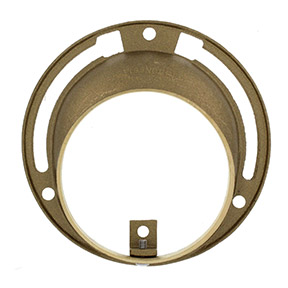 BRASS OFFSET TOILET FLOOR FLANGE