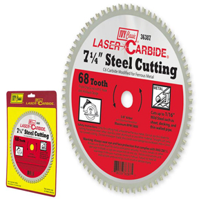 "7-1/4"" 68T LASER CARBIDE STEEL CUTTING BLADE"