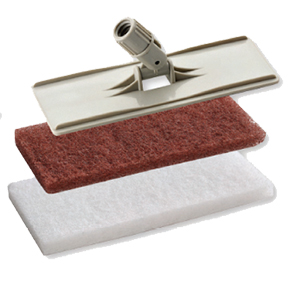 UTILITY PAD HOLDER KIT W/LOCK ON HANDLE-WITH 1 BROWN & 1