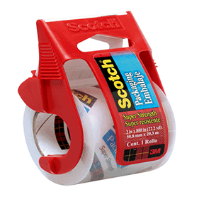 "3M 2"" X 800"" CLEAR SEALING TAPE W/DISPENSER"