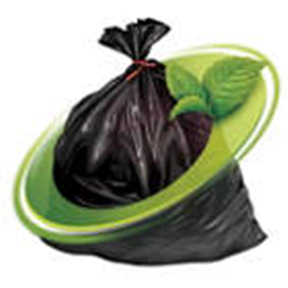 22X14X55 H/D BLACK GARBAGE BAG W/MINT FRAGRANCE